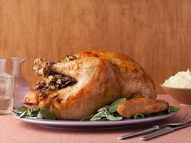 turkey with stuffing recipe alton brown food network